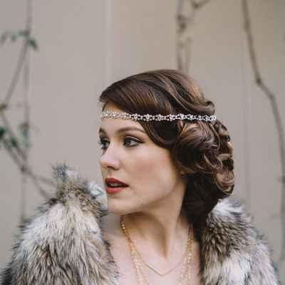 American white bridal hair and make-up