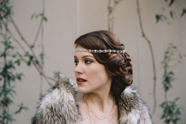 American white bridal hair and make-up