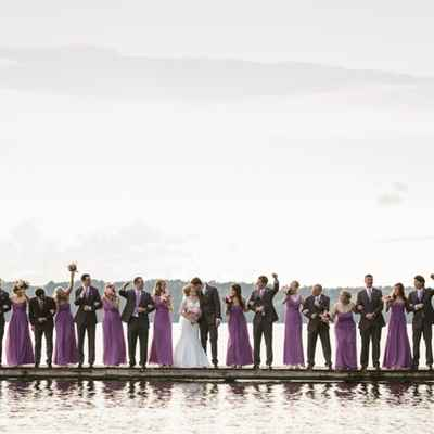 Purple wedding photo session ideas