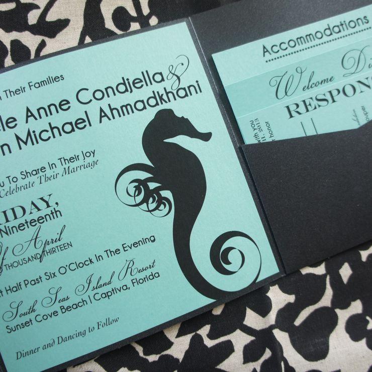 Seahorse Wedding Invitation & Stationery