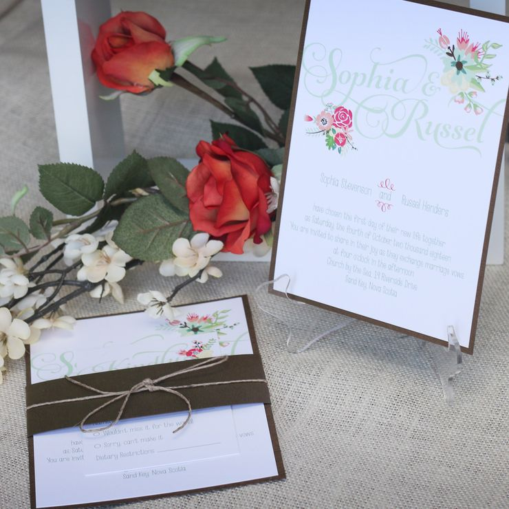 Rustic Bohemian Wedding Invitation