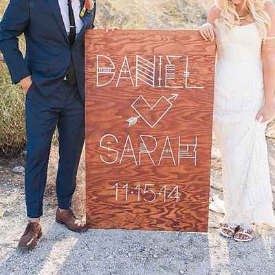 Brown wedding photo session decor