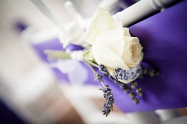 White wedding buttonhole