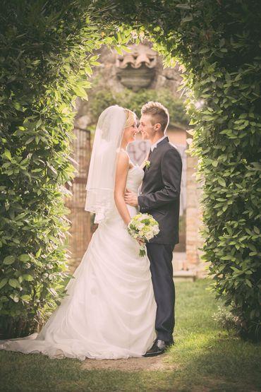Outdoor grey long wedding dresses