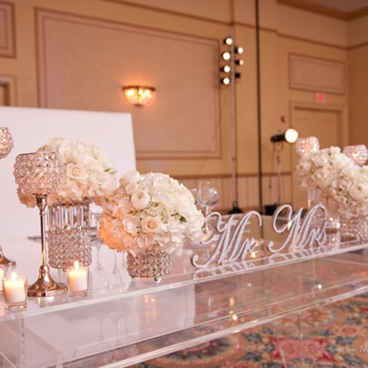 All White Wedding Ceremony Decor