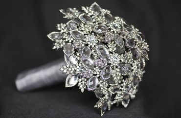 Grey alternative wedding bouquet