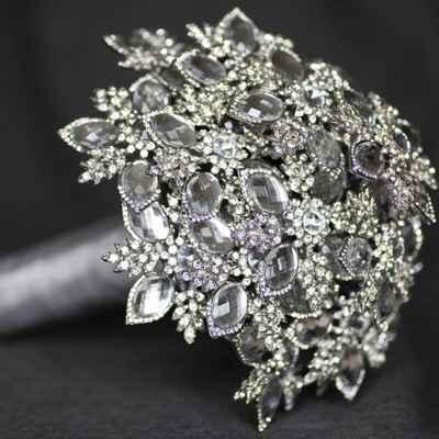 Grey alternative wedding bouquet