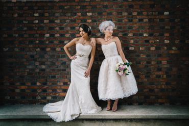 Vintage white short wedding dresses