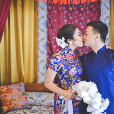 Ethnical blue wedding photo session ideas