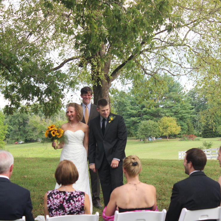 A spring wedding in the country