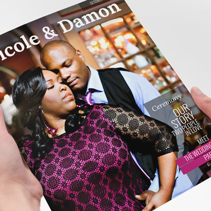 Magazine Wedding Programs