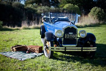 Blue wedding transport