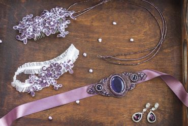 Pink wedding headpieces, veils, cover-ups & brooches