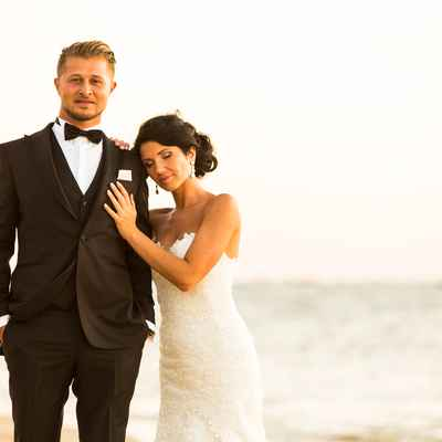 Beach white open wedding dresses