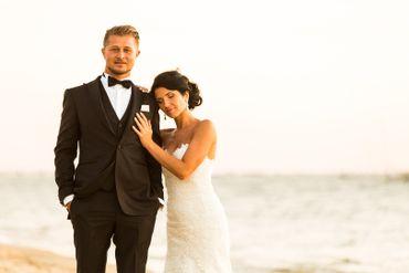 Beach white open wedding dresses
