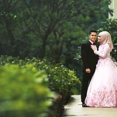 Ethnical pink long wedding dresses
