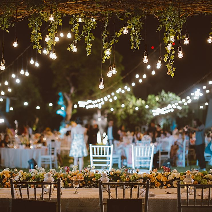 Simple out door wedding Reception