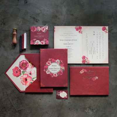 Red wedding invitations