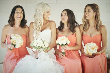 Orange bridal hair and make-up