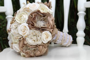 Ivory alternative wedding bouquet
