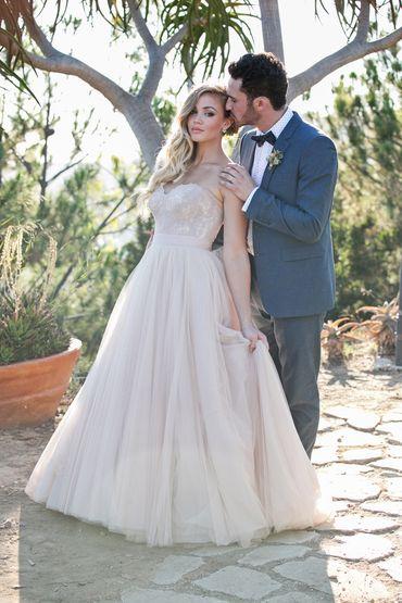 Outdoor ivory long wedding dresses