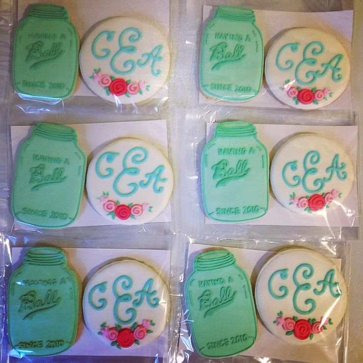 Cookie favors for Caleb and Annalise's wedding