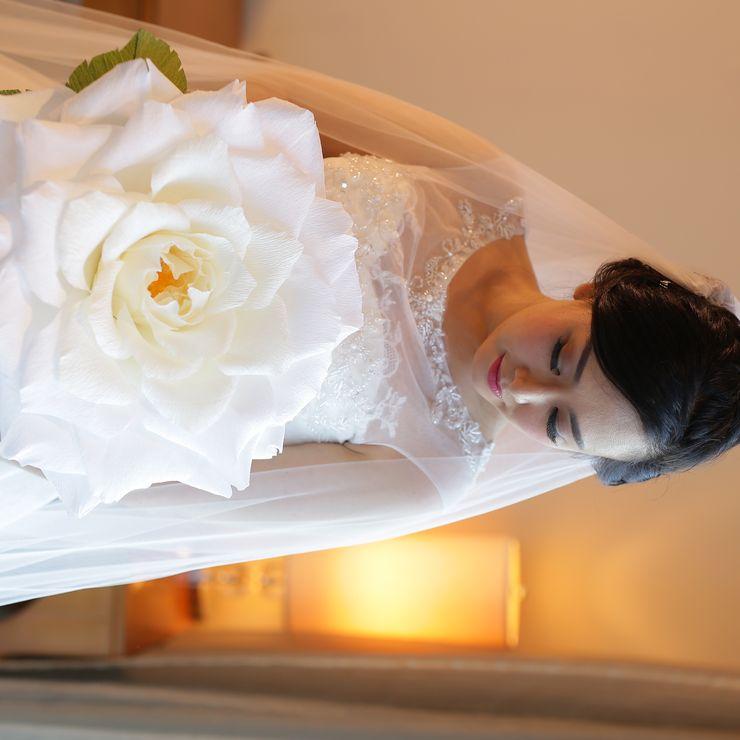Giant rose bridal bouquet