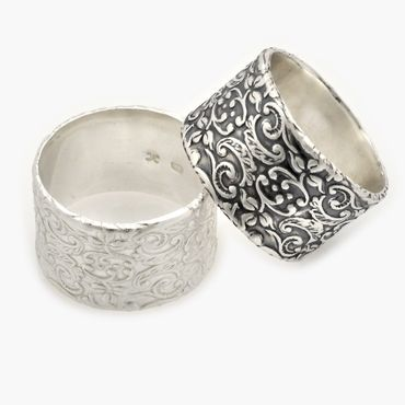 Grey wedding rings
