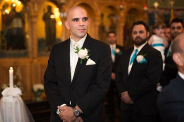 Black overseas groom style