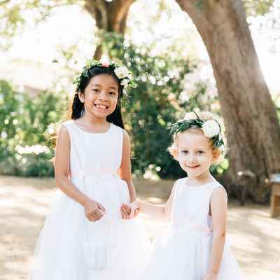 White outdoor kids at wedding
