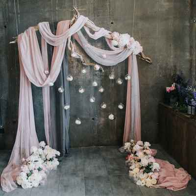 Pink overseas wedding ceremony decor