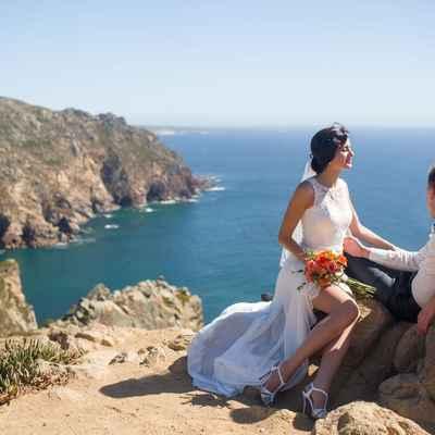 White beach short wedding dresses