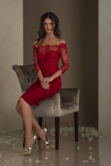 Red short wedding dresses