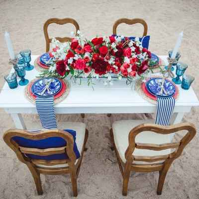 Marine red photo session decor