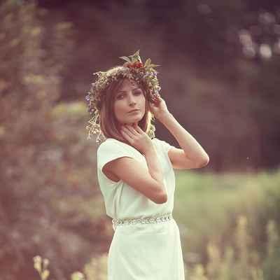 Rustic summer straight wedding dresses